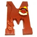 Chocoladeletter 225 gram Ambachtelijke UTZ gecertificeerde FairTrade Chocolade