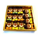 Box met Fairtrade Chocolade Clowntjes