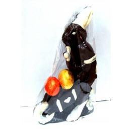 Chocolade Paashaas met Kruiwagen v.a. 30 cm