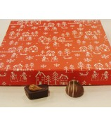 Kerst box rood met 1000 gr handgemaakte bonbons