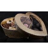 Hart met 500 gram Handgemaakte Fairtrade Bonbons